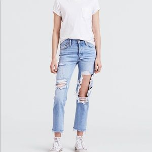 NWT LEVIS 501 original cropped high rise jeans